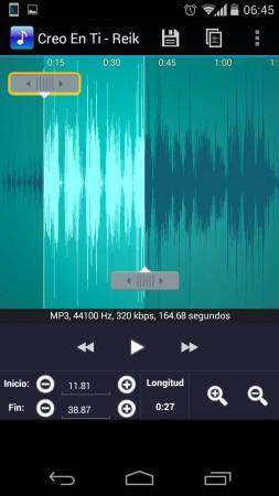 convertir música mp3 tono ringtone maker