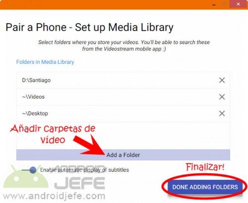 VideoStream PC (Aplicación para Google Chrome)