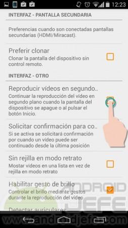 vlc reproducir videos segundo plano pantalla apagada