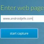 Cómo capturar una página web completa en Android