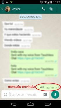 escribir mensajes con la voz whatsapp