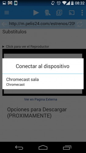 peliculas online chromecast android