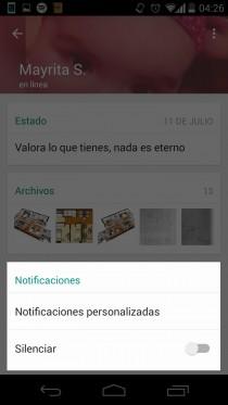 desactivar notificaciones contacto whatsapp ver contacto