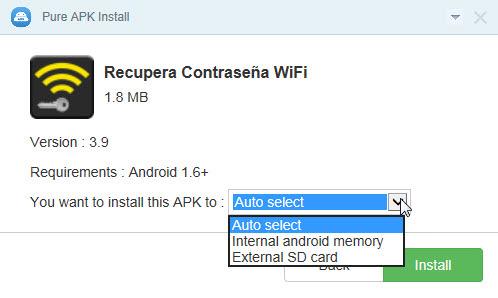 instalar apk desde pc pure apk install