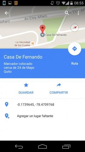 poner nombre a un lugar google mapas android 2