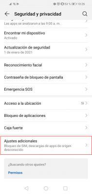 ajustes android pantalla fija 2