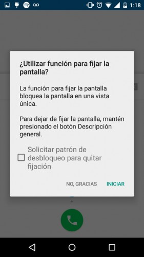 android 5 opcion anti curiosos iniciar
