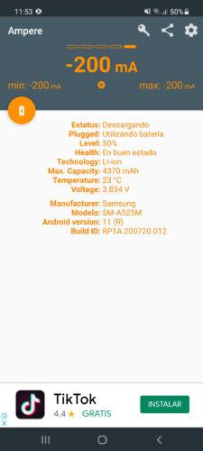 cuanta bateria consume el celular corriente