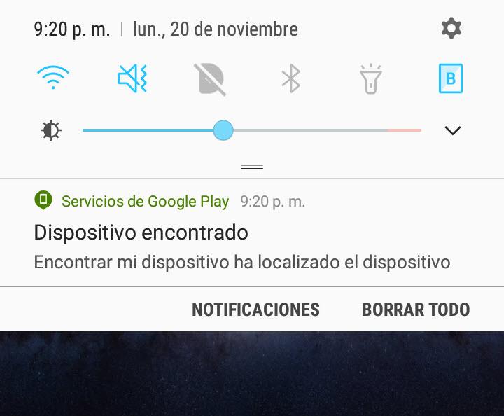Esta notificación puede impedir que recuperes tu celular robado o perdido