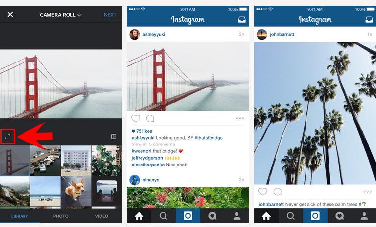 Ya puedes subir fotos horizontales y verticales a Instagram