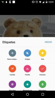 organizar fotos por etiquetas en android