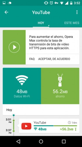 reducir uso datos youtube netflix android