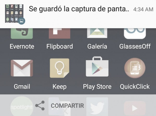 tomar foto pantalla android