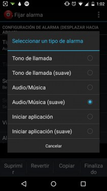 alarma despertador android