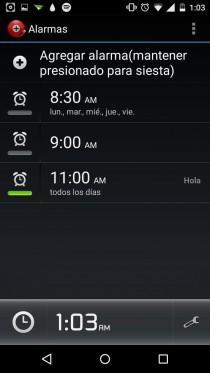 alarma despertador android poner
