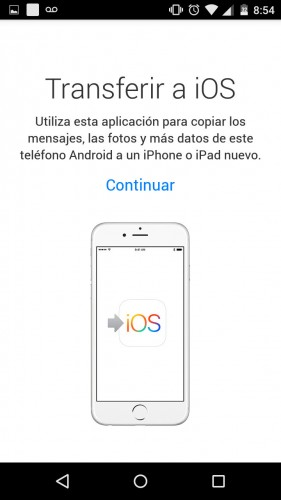 aplicacion apple transferir datos android iphone