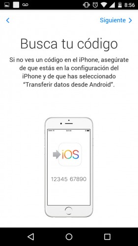 aplicacion apple transferir datos android iphone codigo