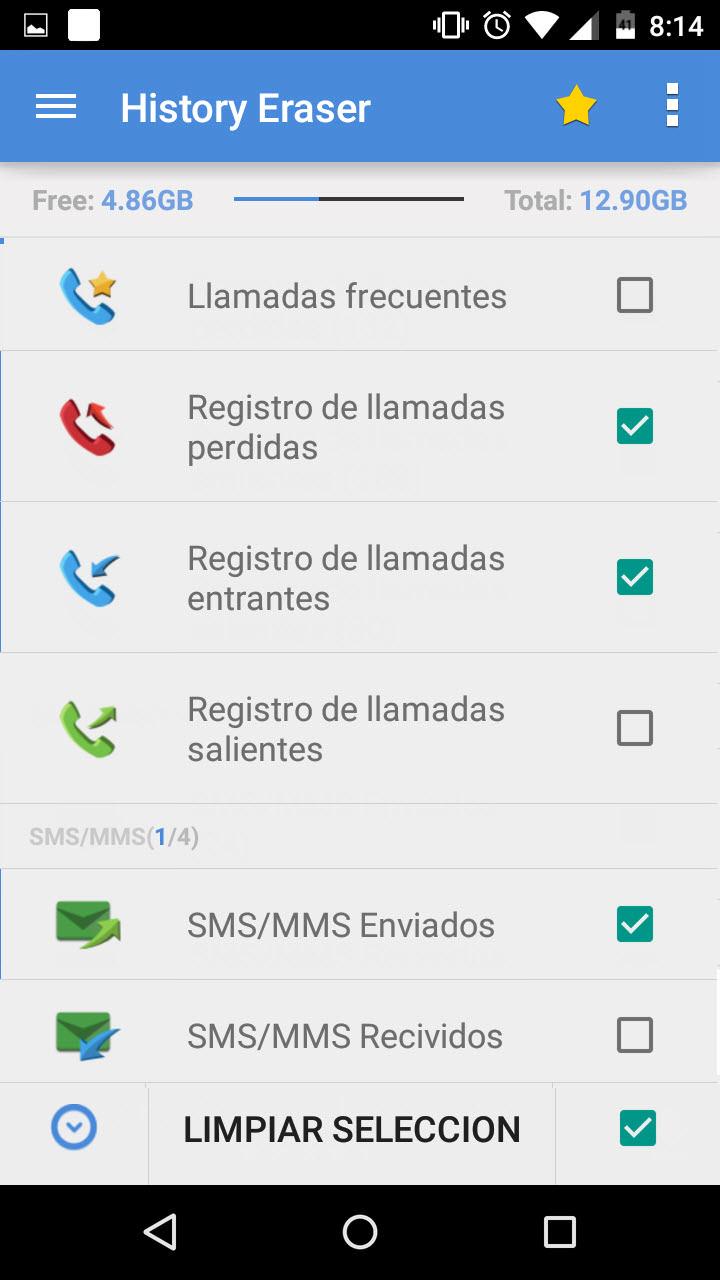 borrar llamadas mensajes de texto y contactos frecuentes android jefe
