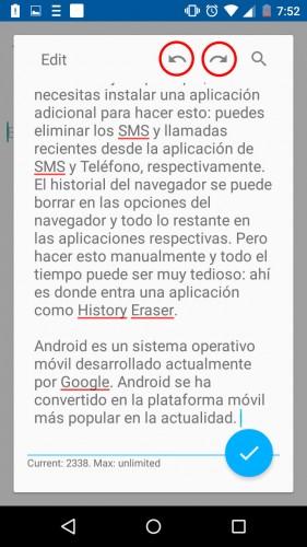 ctrl z ctrl y android app