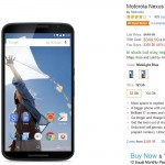 Motorola Nexus 6 rebajado a 350 dólares (originalmente 650 dólares)