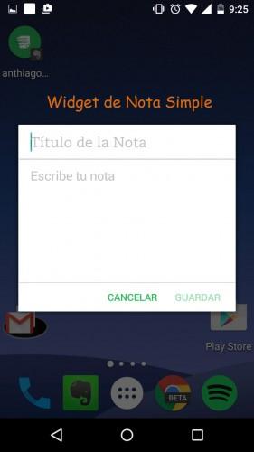 widgets evernote nuevos