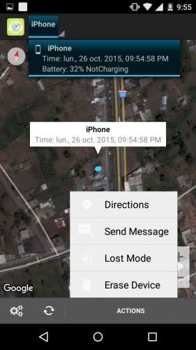 encontrar iphone perdido desde android 2