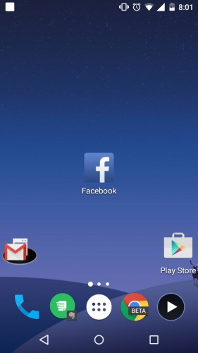 Página de Facebook móvil como acceso directo en la pantalla de inicio de Android