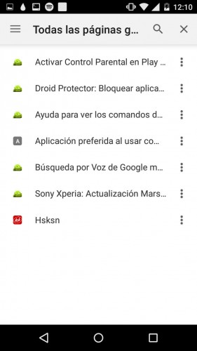 guardar paginas chrome dev android