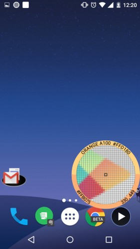 identificar color pantalla