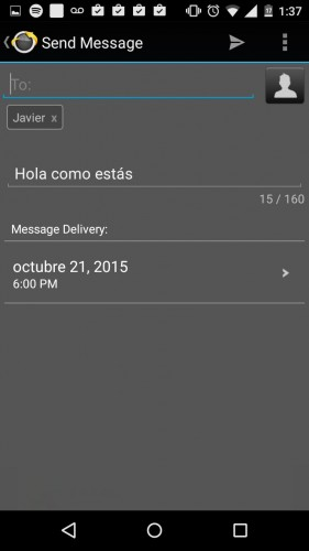 programar envio sms android text later 2