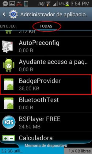 quitar iconos notificaciones samsung galaxy badge provider