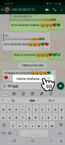 expansion de texto whatsapp