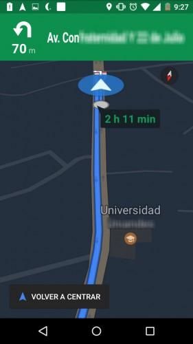 Navegación GPS por Voz en Google Maps