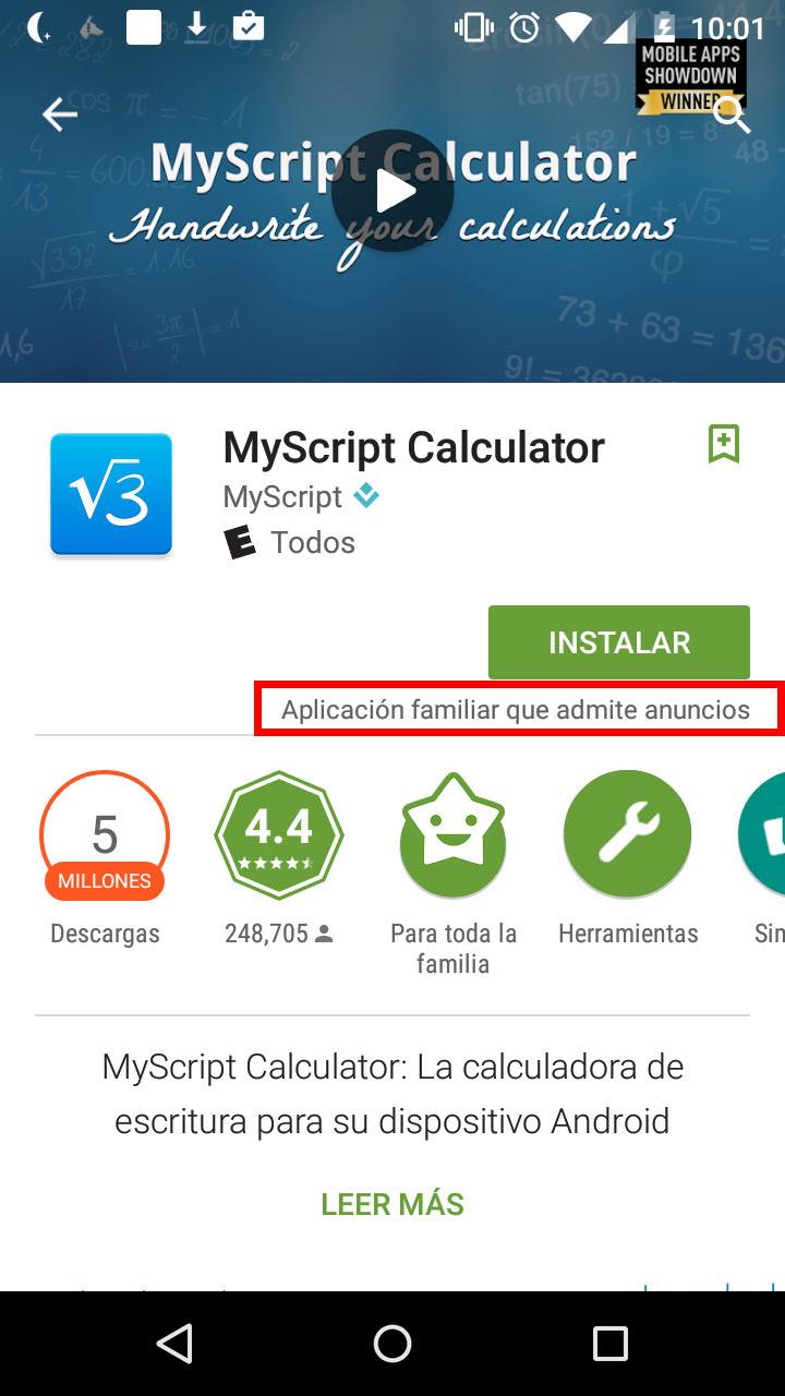 Identificar aplicaciones sin publicidad en Google Play Store