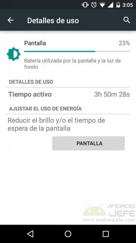 pantalla consume mucha bateria android