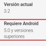 Cómo saber qué versión de Android requiere una aplicación de la Google Play Store
