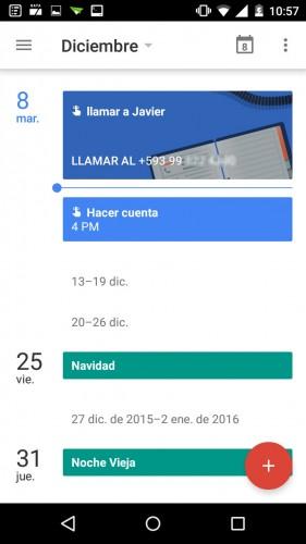 añadir recordatorio en google calendar android