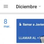 3 formas de añadir un recordatorio en Google Calendar Android