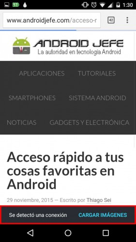 como no cargar imagenes en chrome android