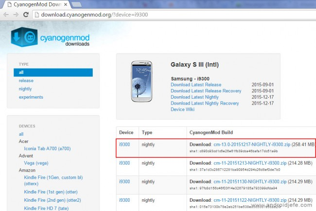 cyanogenmod 13 para el samsung galaxy s3