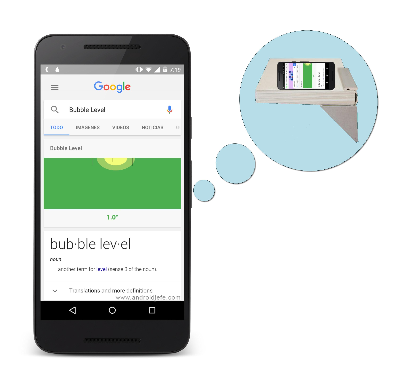 Google hace un nivel de burbuja online para celular