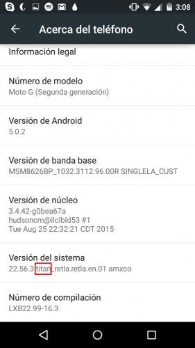 nombre de un dispositivo android codename ajustes
