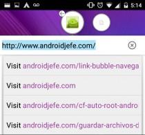 nuevas funciones de link bubble android