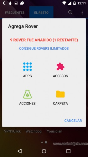 rovers launcher app android