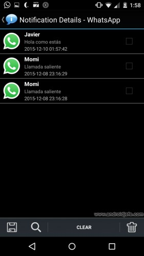 ver historial de notificaciones en android notification history