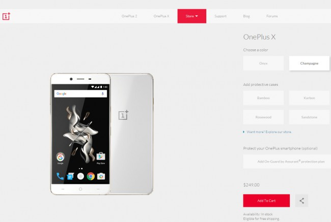Comprar el One Plus X sin invitaciones