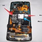Le ponen una ranura micro SD a un Nexus 5 mediante una modificación casera