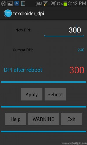 cambiar dpi android textdroider