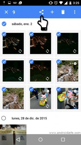 crear un álbum compartido en google fotos share